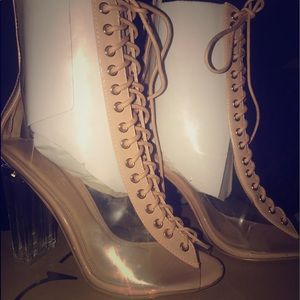 Clear booties